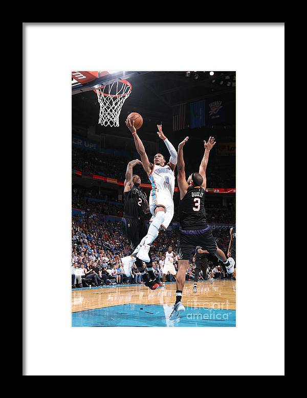 Nba Pro Basketball Framed Print featuring the photograph Russell Westbrook by Joe Murphy