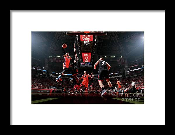 Playoffs Framed Print featuring the photograph Russell Westbrook by Nathaniel S. Butler