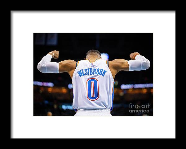 Nba Pro Basketball Framed Print featuring the photograph Russell Westbrook by Zach Beeker