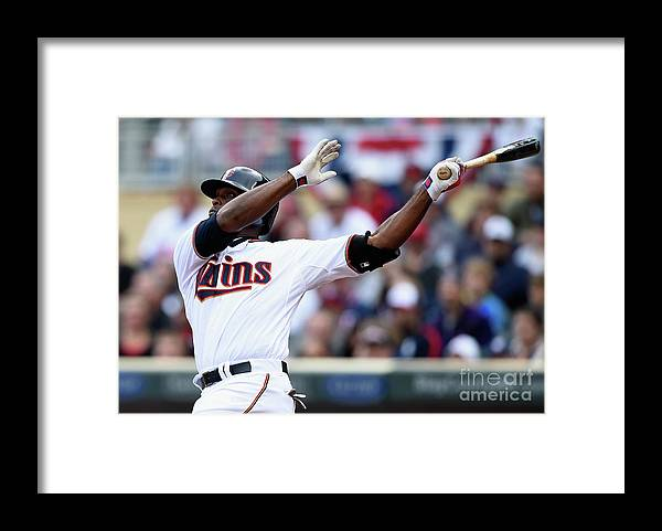 Three Quarter Length Framed Print featuring the photograph Torii Hunter by Hannah Foslien
