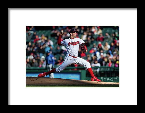 People Framed Print featuring the photograph Trevor Bauer by Jason Miller