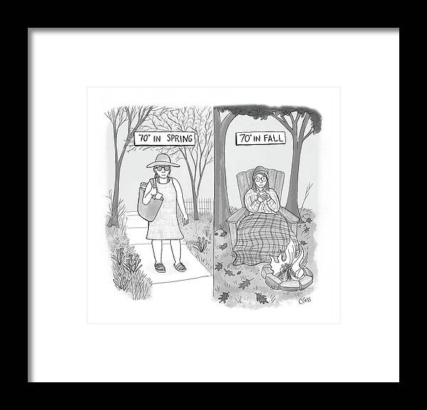Captionless Framed Print featuring the drawing 70 Degrees Spring Or Fall by Caitlin Cass