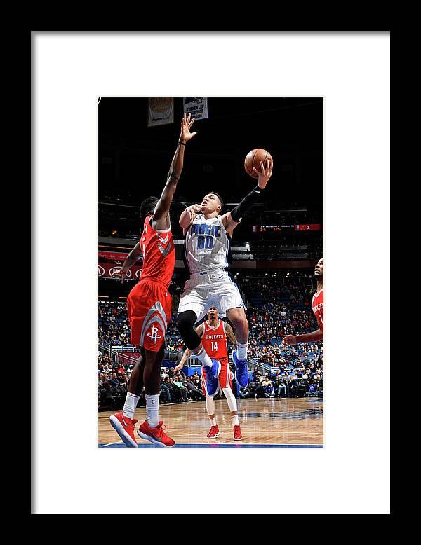 Nba Pro Basketball Framed Print featuring the photograph Aaron Gordon by Fernando Medina