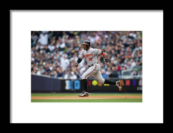 East Framed Print featuring the photograph Adam Jones by Rob Tringali