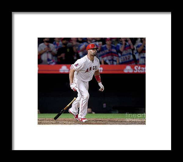 Ninth Inning Framed Print featuring the photograph Albert Pujols by Harry How