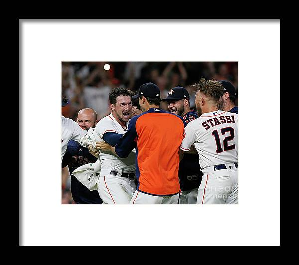 Alex Bregman Framed Print featuring the photograph Alex Bregman by Bob Levey
