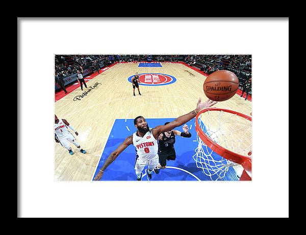 Nba Pro Basketball Framed Print featuring the photograph Andre Drummond by Brian Sevald