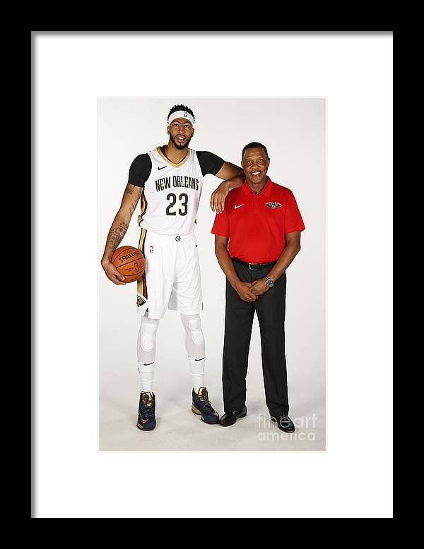 Media Day Framed Print featuring the photograph Anthony Davis by Jonathan Bachman