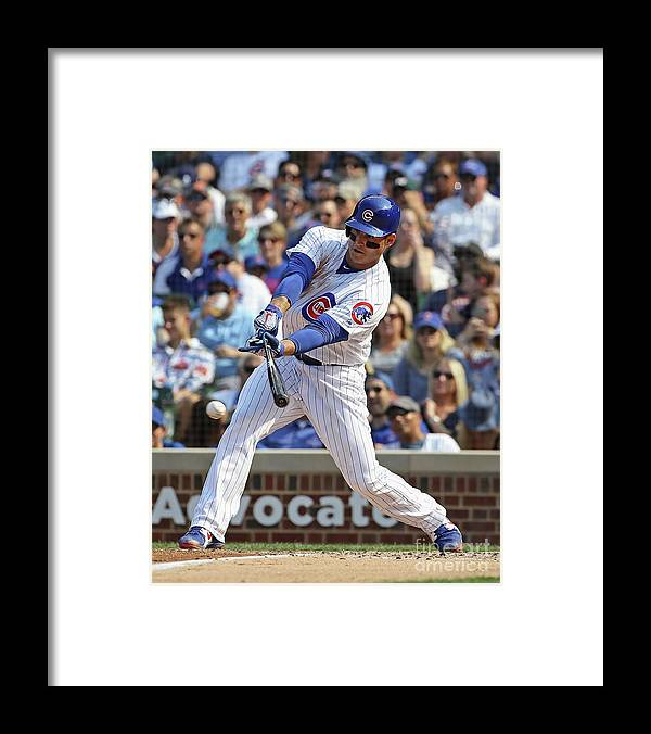 People Framed Print featuring the photograph Anthony Rizzo by Jonathan Daniel