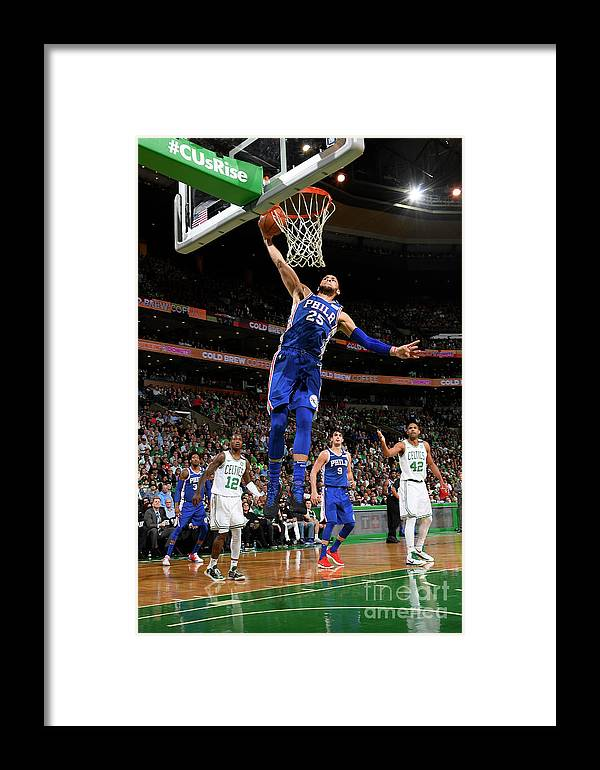 Playoffs Framed Print featuring the photograph Ben Simmons by Brian Babineau