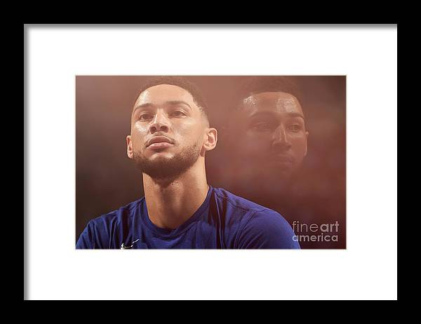 Playoffs Framed Print featuring the photograph Ben Simmons by David Dow