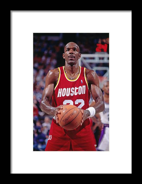 Nba Pro Basketball Framed Print featuring the photograph Clyde Drexler by Rocky Widner
