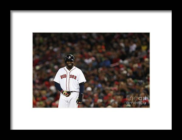 Second Inning Framed Print featuring the photograph David Ortiz by Elsa