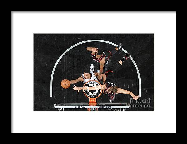 Playoffs Framed Print featuring the photograph Dejounte Murray by Mark Sobhani
