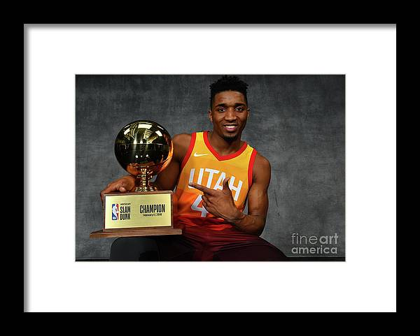 Nba Pro Basketball Framed Print featuring the photograph Donovan Mitchell by Jesse D. Garrabrant