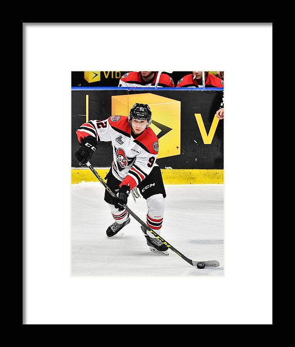 People Framed Print featuring the photograph Drummondville Voltiguers v Blainville-Boisbriand Armada by Minas Panagiotakis