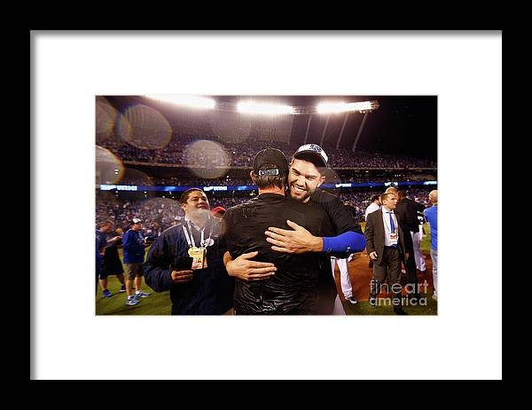 People Framed Print featuring the photograph Eric Hosmer by Jamie Squire