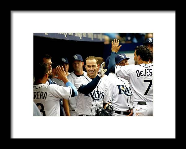 American League Baseball Framed Print featuring the photograph Evan Longoria by Brian Blanco