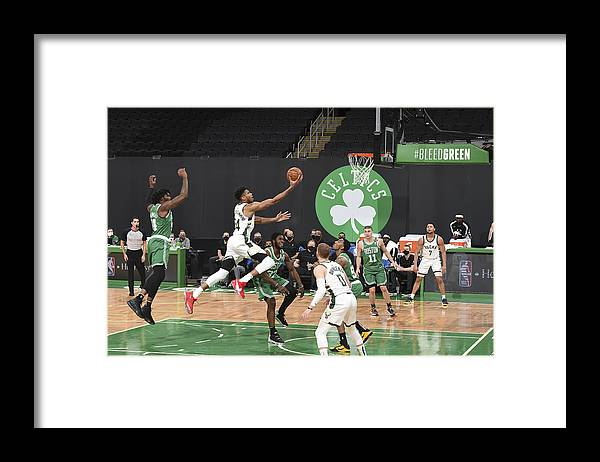 Nba Pro Basketball Framed Print featuring the photograph Giannis Antetokounmpo by Brian Babineau