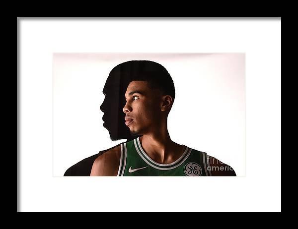 Nba Pro Basketball Framed Print featuring the photograph Jayson Tatum by Brian Babineau