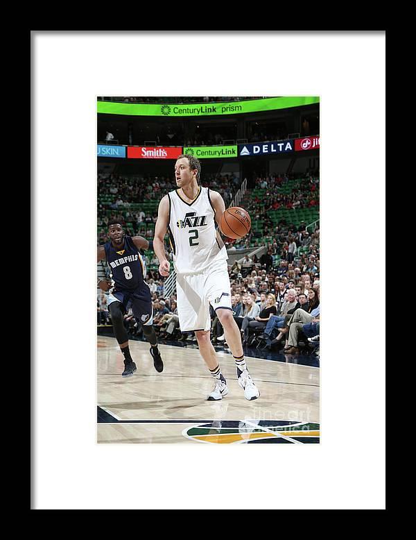 Nba Pro Basketball Framed Print featuring the photograph Joe Ingles by Melissa Majchrzak