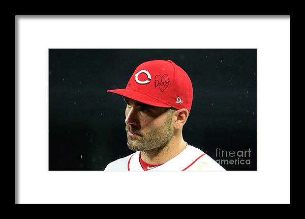 Great American Ball Park Framed Print featuring the photograph Joey Votto by Andy Lyons