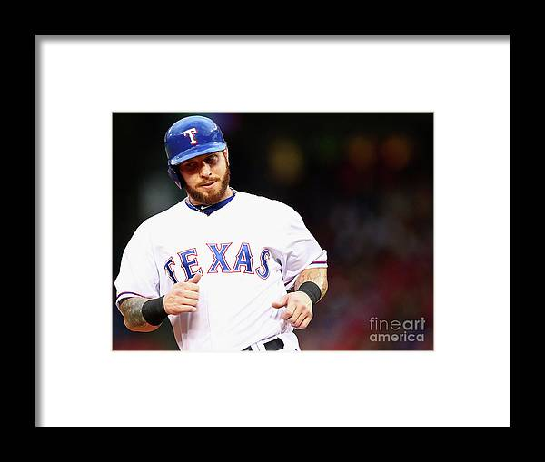 Second Inning Framed Print featuring the photograph Josh Hamilton by Ronald Martinez