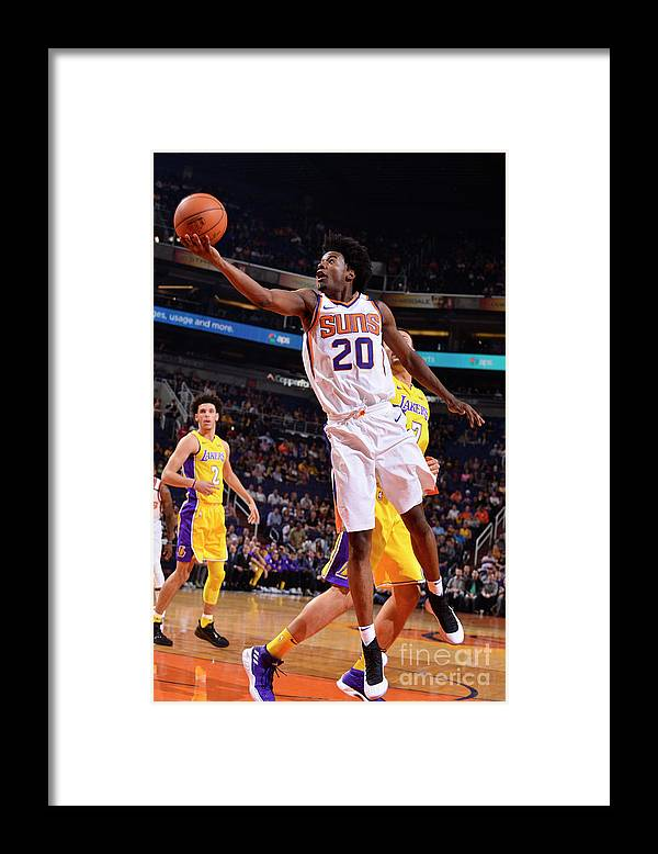 Nba Pro Basketball Framed Print featuring the photograph Josh Jackson by Barry Gossage