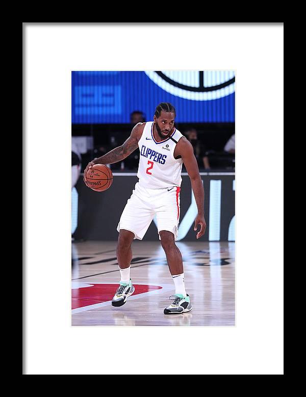 Nba Pro Basketball Framed Print featuring the photograph Kawhi Leonard by Joe Murphy