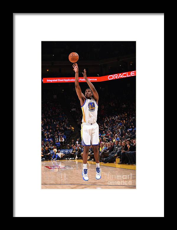 Nba Pro Basketball Framed Print featuring the photograph Kevon Looney by Noah Graham