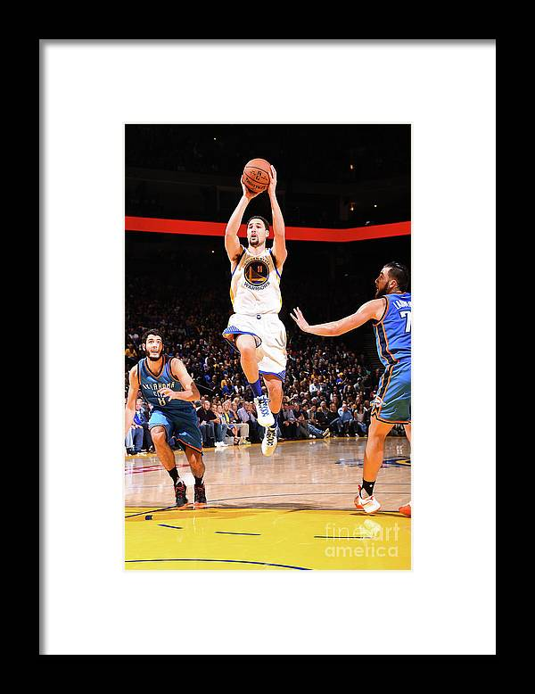 Nba Pro Basketball Framed Print featuring the photograph Klay Thompson by Andrew D. Bernstein