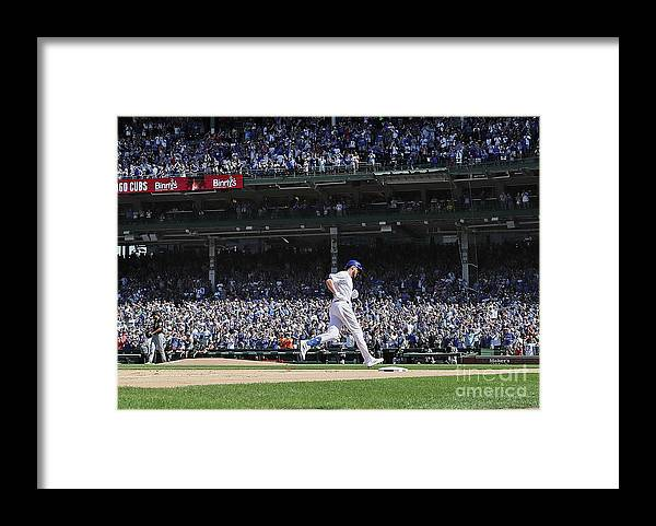 People Framed Print featuring the photograph Kris Bryant by Jonathan Daniel