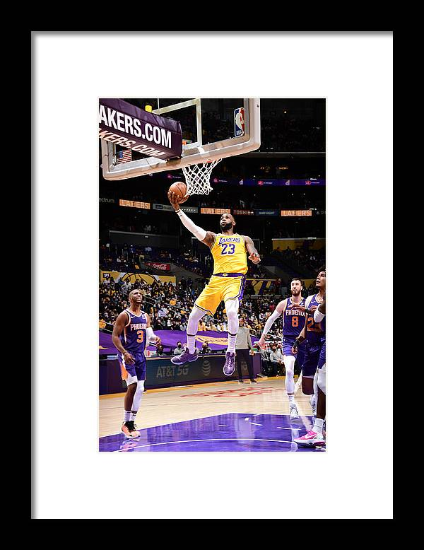 Playoffs Framed Print featuring the photograph Lebron James by Adam Pantozzi