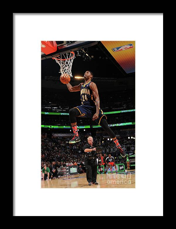 Smoothie King Center Framed Print featuring the photograph Paul George by Andrew D. Bernstein