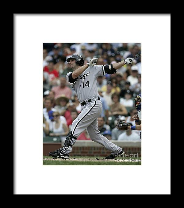 American League Baseball Framed Print featuring the photograph Paul Konerko by Jonathan Daniel