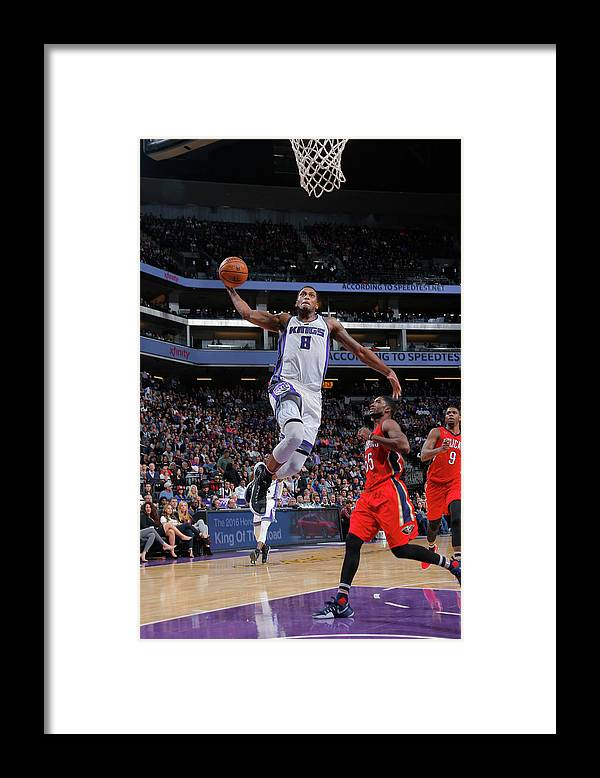 Nba Pro Basketball Framed Print featuring the photograph Rudy Gay by Rocky Widner