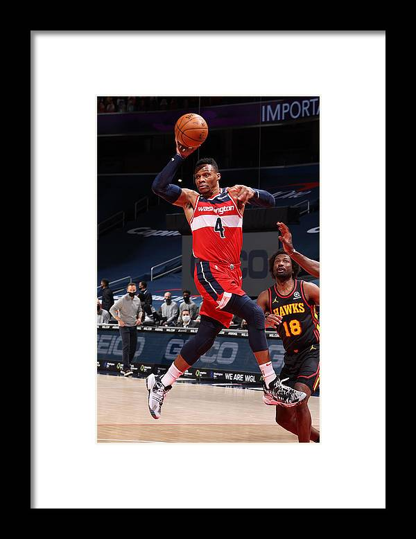 Nba Pro Basketball Framed Print featuring the photograph Russell Westbrook by Stephen Gosling