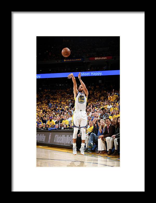 Playoffs Framed Print featuring the photograph Stephen Curry by Garrett Ellwood