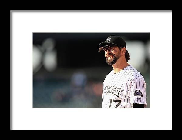 Todd Helton Framed Print featuring the photograph Todd Helton by Doug Pensinger