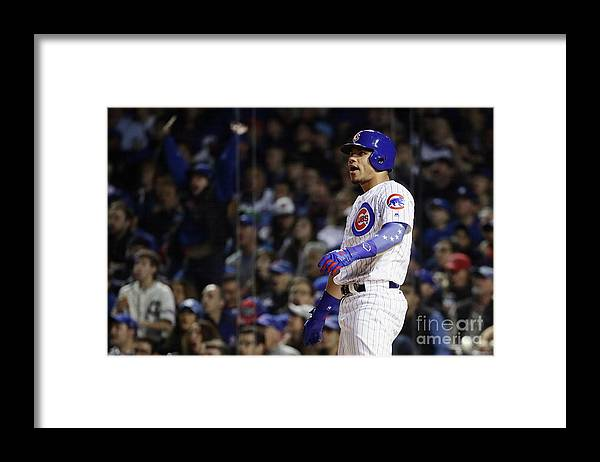 Second Inning Framed Print featuring the photograph Willson Contreras by Jonathan Daniel
