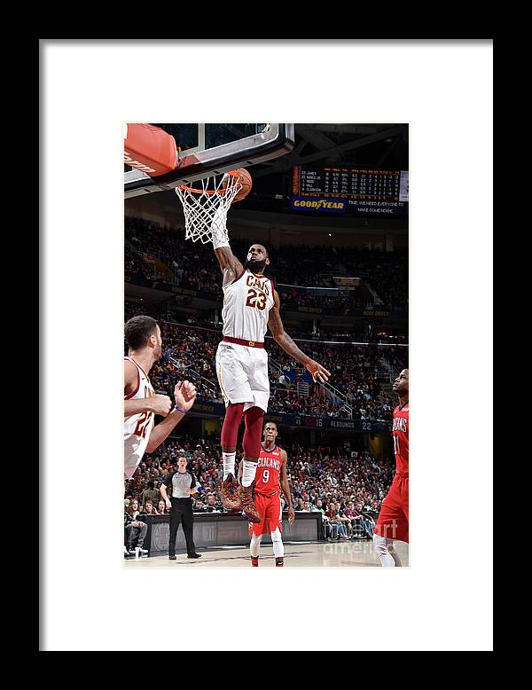 Sports Ball Framed Print featuring the photograph Lebron James by David Liam Kyle