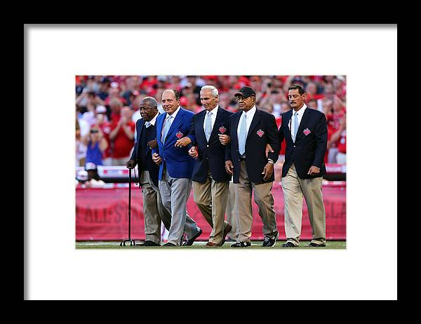Great American Ball Park Framed Print featuring the photograph 86th MLB All-Star Game by Elsa