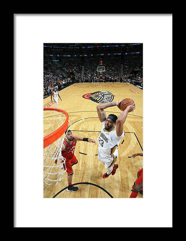 Smoothie King Center Framed Print featuring the photograph Anthony Davis by Layne Murdoch Jr.