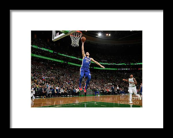 Nba Pro Basketball Framed Print featuring the photograph Ben Simmons by Brian Babineau