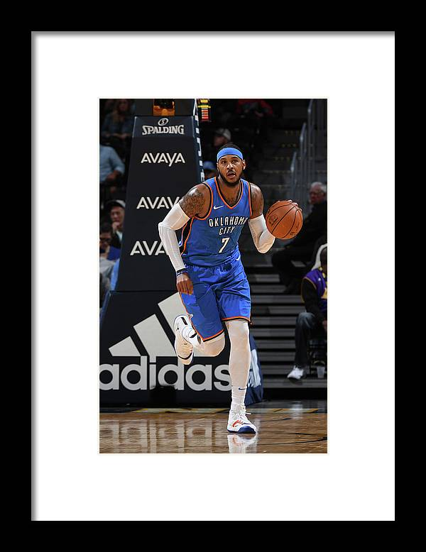 Nba Pro Basketball Framed Print featuring the photograph Carmelo Anthony by Garrett Ellwood