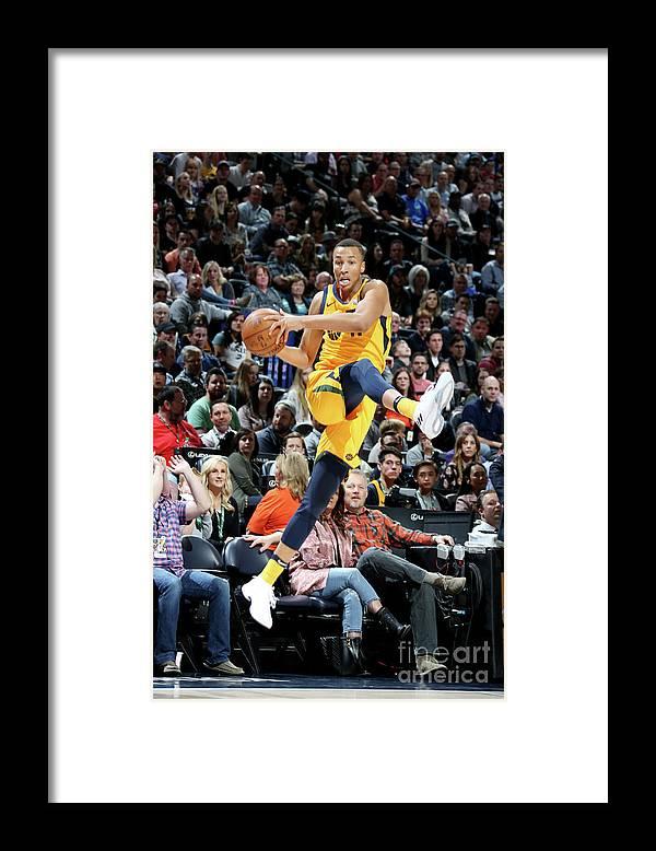 Sports Ball Framed Print featuring the photograph Dante Exum by Melissa Majchrzak