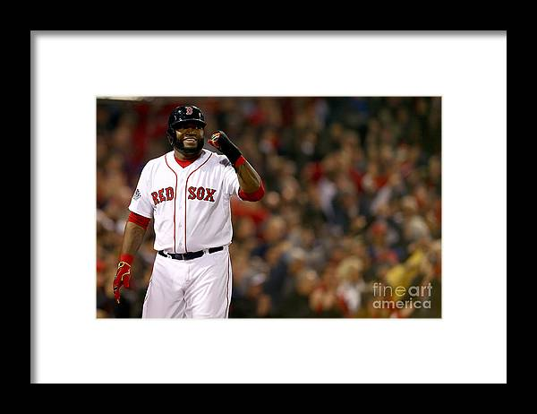 Playoffs Framed Print featuring the photograph David Ortiz by Elsa
