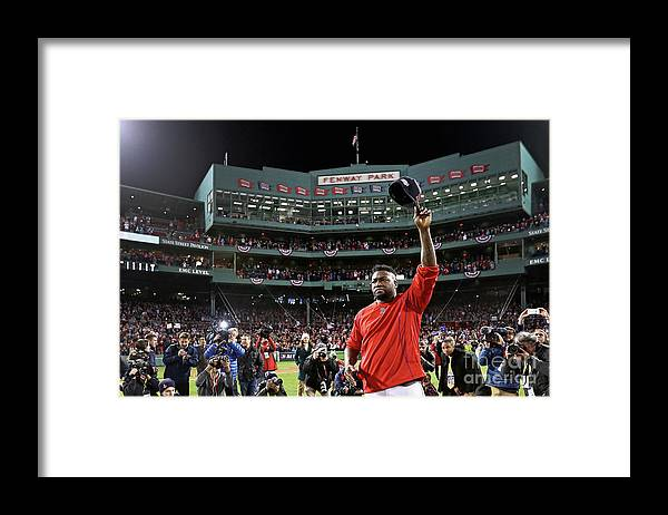 Three Quarter Length Framed Print featuring the photograph David Ortiz by Maddie Meyer