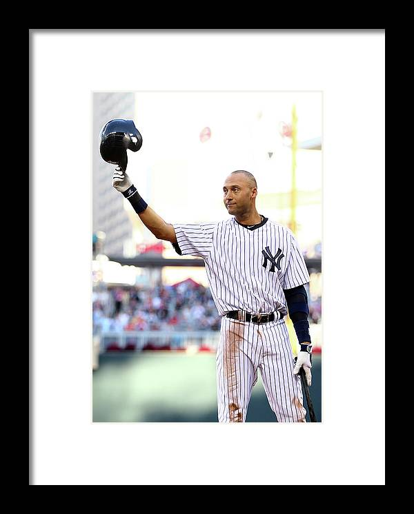 Crowd Framed Print featuring the photograph Derek Jeter by Elsa
