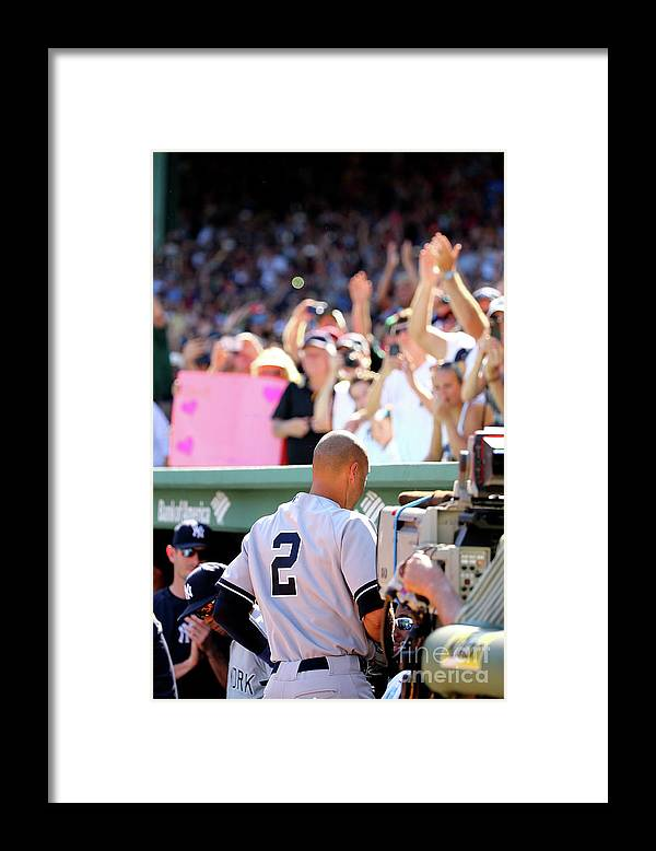 American League Baseball Framed Print featuring the photograph Derek Parks by Al Bello